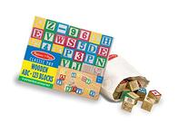 Melissa & Doug Deluxe Wooden ABC/123 Blocks Set With Storage