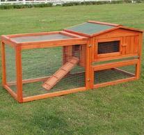 "PawHut 62"" Wooden Outdoor Guinea Pig Pet House/Rabbit Hutch"
