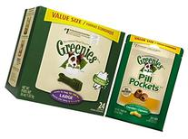 Greenies Dental Chews + Pill Pockets Bundle - Large Dog