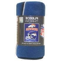 Denver Broncos Lightweight Fleece Blanket