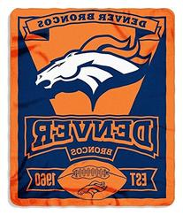 NFL Denver Broncos Marque Printed Fleece Throw, 50-inch by