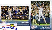 Derek Jeter 2015 Topps Baseball Series 1 Set of 2 Cards #1