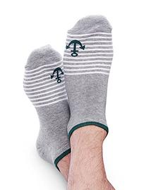 Vero Monte 6 Pairs Mens Designed No Show Ankle Socks  1251
