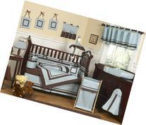 Sweet Jojo Designs Designer Blue and Brown Hotel Modern Baby