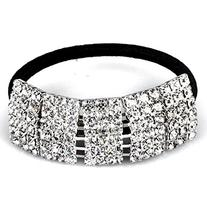 Designer Fashion Elastic Rhinestone Hairtie Ponytail Holder
