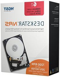 HGST Deskstar NAS 3.5-Inch 6TB 7200RPM SATA III 128MB Cache