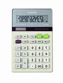 Sharp Desktop Calculator 10 Digit Variable Tilt Lcd Display