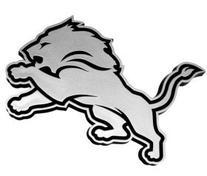 Detroit Lions NFL Silver Auto Emblem
