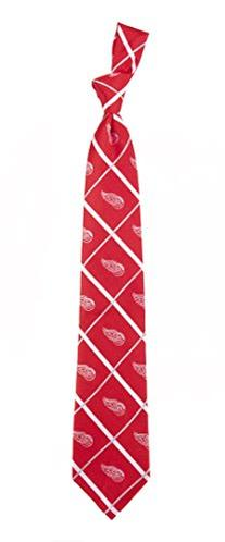 Detroit Red Wings NHL Silver Line Woven Silk Neck Tie Eagles