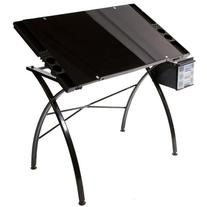 Martin Dezign Line Drawing Table WBlack Glass Top Black By