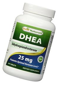 Best Naturals DHEA 25mg Supplement 240 Tablets - Supports