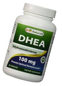 Best Naturals DHEA Capsule, 100 mg, 60 Count