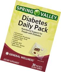 Spring Valley Diabetes Daily Pack, Supports General Wellness