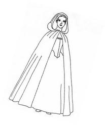 Diagrams for 1300 - 1900's Woman's Long and Short Cloak