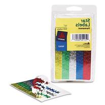 Avery 0.5-Inch DiameterAssorted Foil Star Labels, Pack of