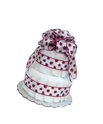 New Baby Girl Diaper Cake - Ladybug Red and White - Great