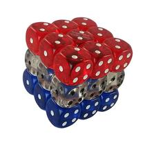 MagneticCube 3x3x3 Dice Puzzle: Mixed Red, Clear, and Blue