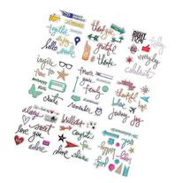 DECORA 9 Pieces Planer Journaling Design Clear Rubber Stamp