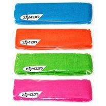 4 PCS Different Color Cotton Sports Basketball Headband /