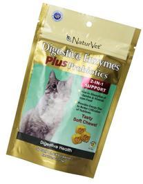 NaturVet 50 Count Digestive Enzymes Plus Probiotics 2-in-1