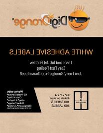 Digiorange® Pack of 400 White Mailing/shipping Labels for