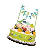 Dinosaur Cake Toppers Flags Banner Birthday Cake Flags