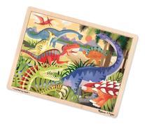 Melissa & Doug Dinosaurs Wooden Jigsaw Puzzle With Storage