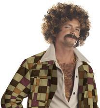 California Costumes Men's Disco Dirt Bag Wig & Moustache,