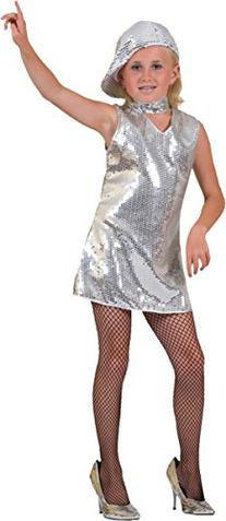 Morris Costumes Morris Costumes DISCO DRESS SILVER CHILD,