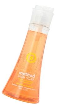 Method Naturally Derived Dish Soap Pump, Clementine, 18