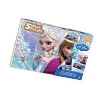 Disney Frozen 5 Wood Puzzles in Wood Storage Box
