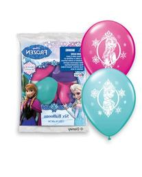 "Pioneer National Latex Disney 12"" Frozen 6 Balloons,"