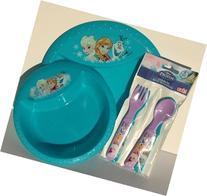 Disney Frozen Mealtime Set Featuring Elsa, Anna and Olaf -