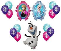 Disney Frozen X-Large Mylar Balloons Olaf Anna Elsa with 12
