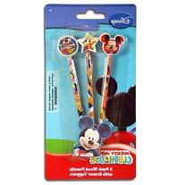 Disney Mickey Clubhouse 3pk pencil with Shaped Eraser Topper