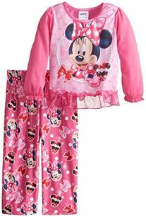 Disney Little Girls' Minnie Mouse Oh So Sweet 2 Piece Pajama
