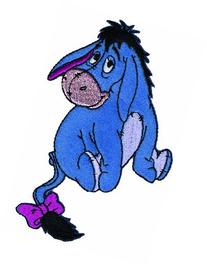 Wrights Disney Winnie The Pooh Iron On Applique-Eeyore 4-1/