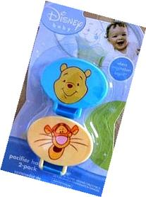 Disney Baby Winnie The Pooh Pacifier Holder 2 Pack Yellow &