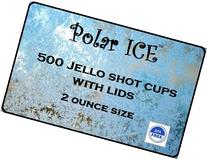 Polar Ice Disposable Plastic Glasses with Lids, 2-Ounce,