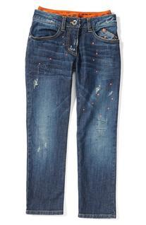 Boy's Armani Junior Distressed Straight Leg Jeans