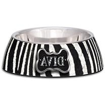 Diva Zebra Milano Bowl for Dogs and Cats, Small