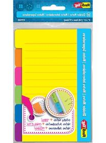 Redi-Tag Divider Sticky Notes 60 Ruled Notes, 4 x 6 Inches, Assorted Neon Colors
