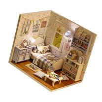 Buytra DIY Miniature 3D Wooden Dollhouse with Furniture