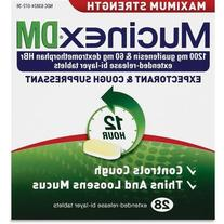 Mucinex DM Max Strength Expectorant and Cough Suppressant,