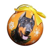 Doberman Christmas Ornament Shatter Proof Ball Easy To