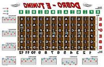 Dobro Fretboard Chart Resonator Guitar Poster - E Tuning