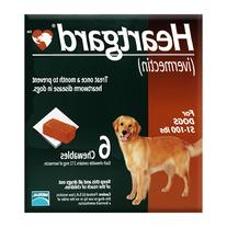 Dog Heartgard Chewables 6pk Brown 51-100 lbs by MERIAL