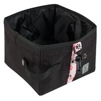 RC Pet Products Dog Water Wallet, Black with Pitter Patter