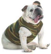 Doggie Skins Baby-Rib Camouflage Tank - Green Woodland - 2XL