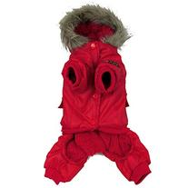 Weixinbuy Small Dogs Pet Thick Outercoat Hoodie Coat Red XX-